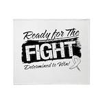 Ready Fight Mesothelioma Throw Blanket