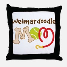 Weimardoodle Dog Mom Throw Pillow