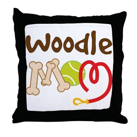 Woodle Dog Mom Throw Pillow