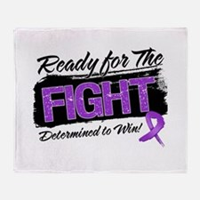 Ready Fight Pancreatic Cancer Throw Blanket