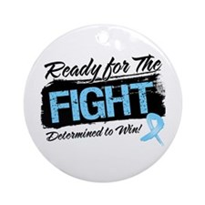 Ready Fight Prostate Cancer Ornament (Round)