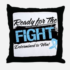Ready Fight Prostate Cancer Throw Pillow