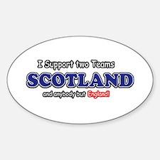 Funny Scotland Designs Sticker (Oval)