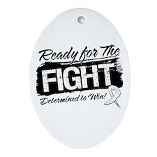 Ready Fight Retinoblastoma Ornament (Oval)