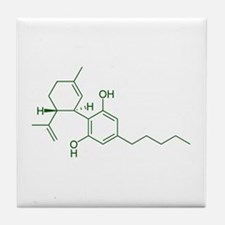 Cannabidiol CBD Tile Coaster