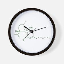 Cannabidiol CBD Wall Clock