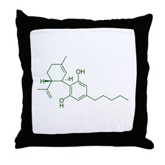 Cannabidiol CBD Throw Pillow