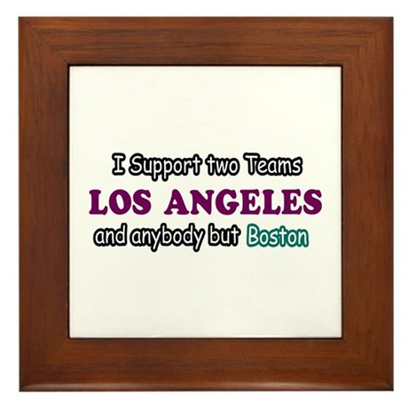 Funny Los Angeles Designs Framed Tile