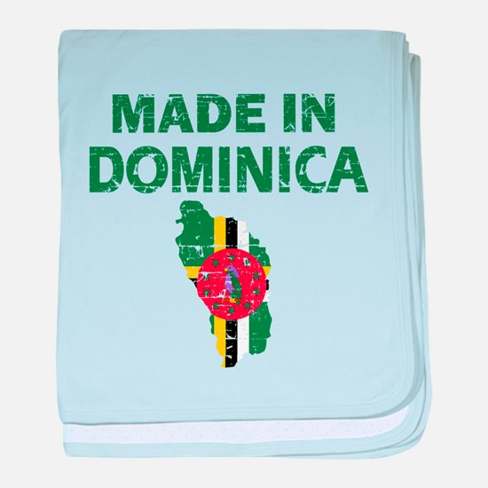 Made In Dominica baby blanket