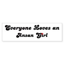 Loves Ansan Girl Bumper Bumper Sticker