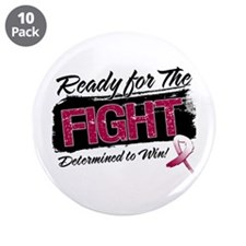 """Ready Fight Throat Cancer 3.5"""" Button (10 pack)"""