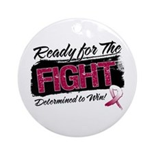 Ready Fight Throat Cancer Ornament (Round)