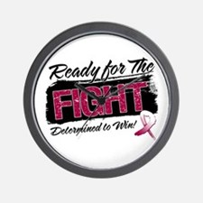 Ready Fight Throat Cancer Wall Clock