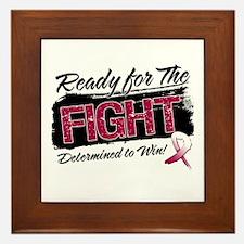 Ready Fight Throat Cancer Framed Tile