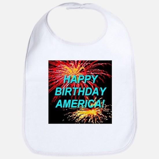 Happy Birthday America First Bib