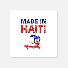 "Made In Haiti Square Sticker 3"" x 3"""