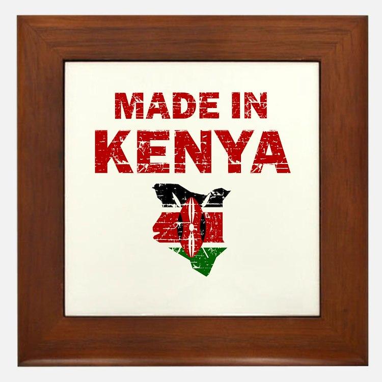 Made In Kenya Framed Tile