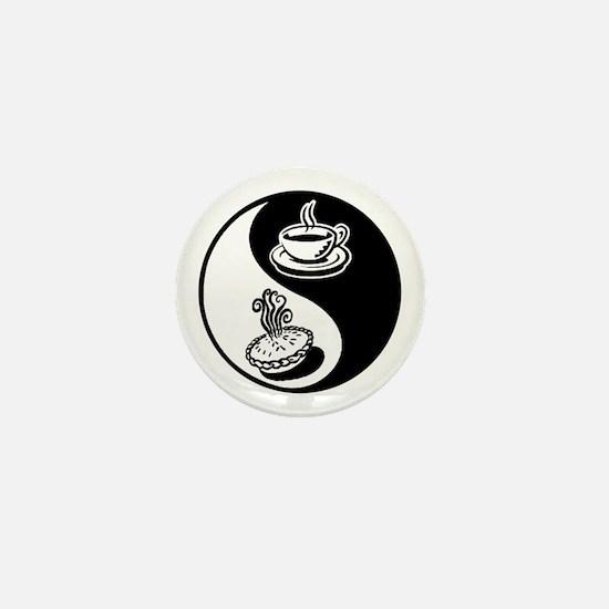 Pie and Coffee Yin Yang Mini Button