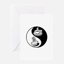 Pie and Coffee Yin Yang Greeting Card