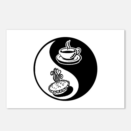 Pie and Coffee Yin Yang Postcards (Package of 8)