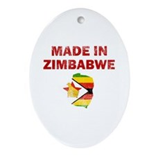Made In Zimbabwe Ornament (Oval)
