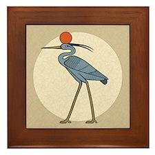 Sun Disc Benu Framed Tile