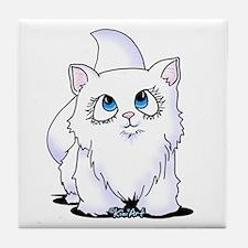 Blue Eyed Cutie Cat Tile Coaster