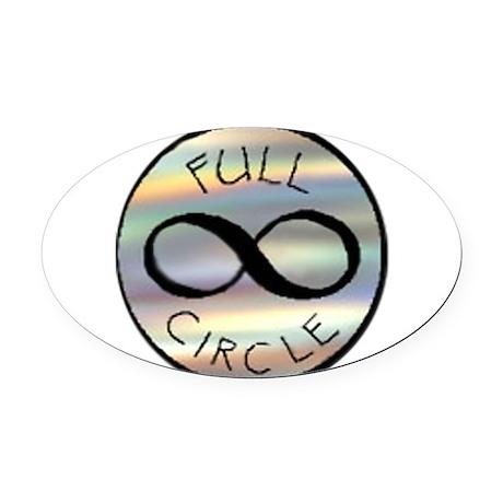 full circle logo oval car magnet by bluegorgon