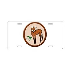 Maned Wolf Aluminum License Plate