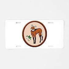 Maned Wolf Aluminum License Plate