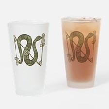 Pictish Snake Drinking Glass
