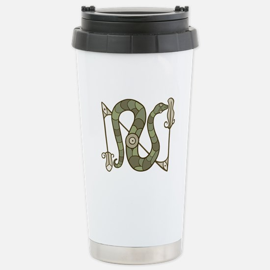 Pictish Snake Stainless Steel Travel Mug