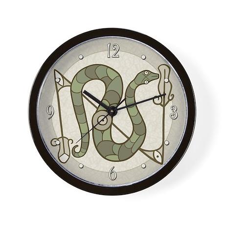 Pictish Snake Wall Clock