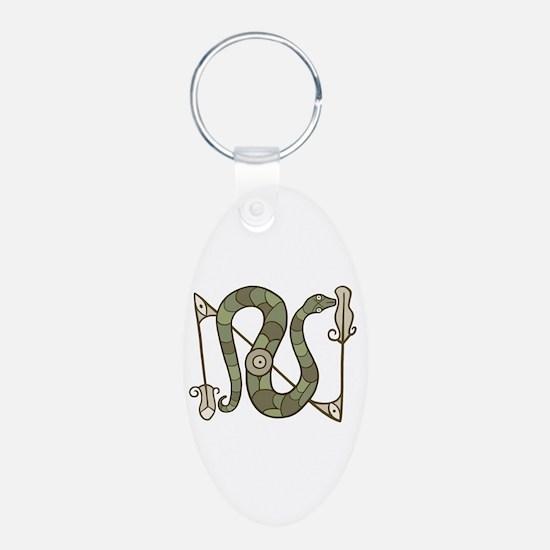 Pictish Snake Keychains