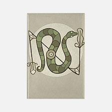 Pictish Snake Rectangle Magnet