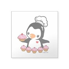 "Bake a Cupcake Square Sticker 3"" x 3"""