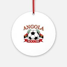 Angola Football Ornament (Round)