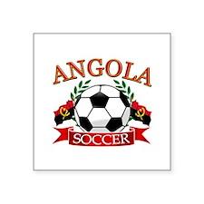 "Angola Football Square Sticker 3"" x 3"""