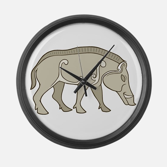 Pictish Boar Large Wall Clock