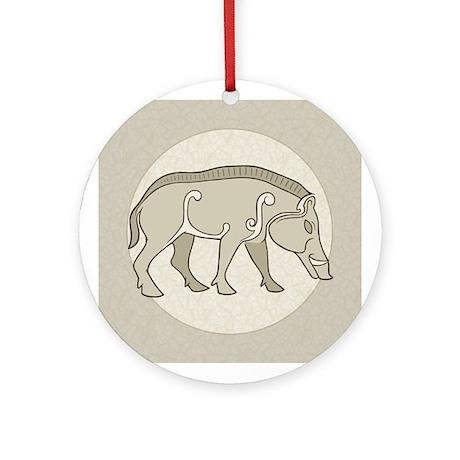 Pictish Boar Ornament (Round)