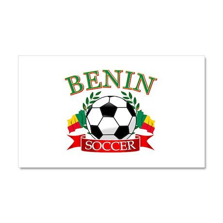 Benin Football Car Magnet 20 x 12