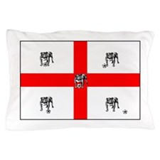 English Bulldog Football Flag Pillow Case