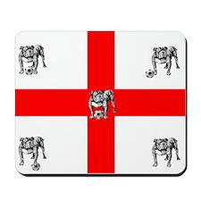 English Bulldog Football Flag Mousepad