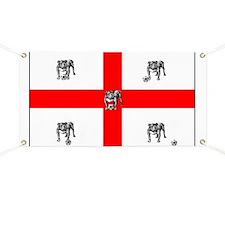 English Bulldog Football Flag Banner