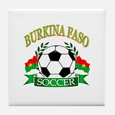 Burkina Faso Football Tile Coaster