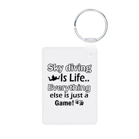 Sky Diving Is Life Aluminum Photo Keychain