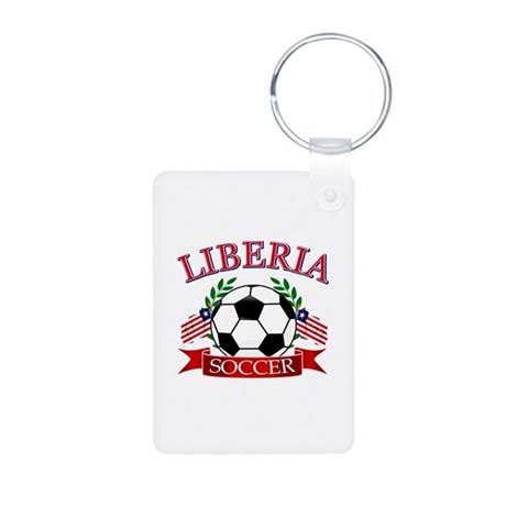 Liberia Football Aluminum Photo Keychain