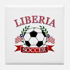 Liberia Football Tile Coaster