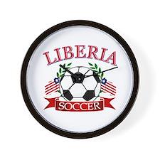 Liberia Football Wall Clock