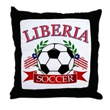 Liberia Football Throw Pillow